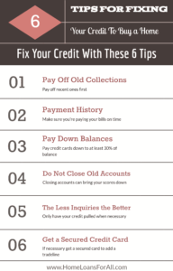 6 tips to fix credit