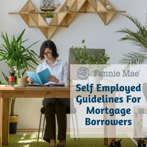 Fannie Mae Self Employed Guidelines for mortage borrowers