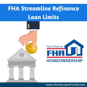 what are the fha streamline refinance loan limits