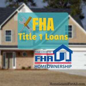 fha title 1 loan