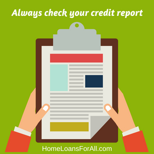 credit report homeloan