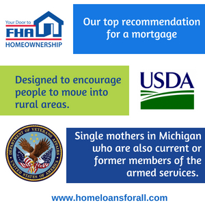 home loans for single mothers in Michigan