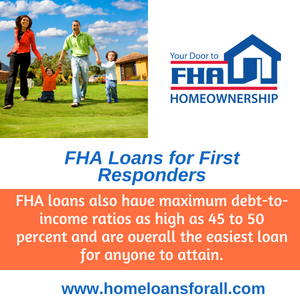 IN home loans for first responders with bad credit