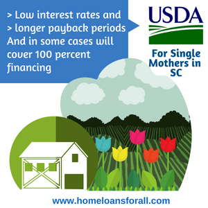 no money down home loans in South Carolina for single moms