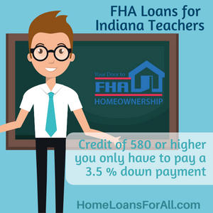 No down payment home loans in Indiana for teachers